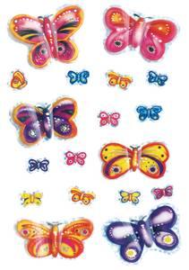 Bilde av MAGIC Stickers Sommerfugler, 3D-vinger, 1 ark (10