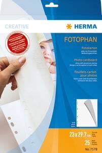 Bilde av HERMA fotokartong 230x297 mm, sulfatfritt, hvit
