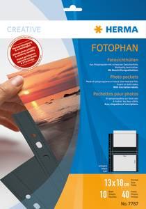 Bilde av Fotophan fotolommer 13x18 cm tvers svart, 4