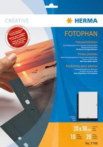 Bilde av Fotophan fotolommer 20x30 cm svart, 2 fotos/ark,