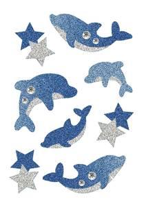 Bilde av MAGIC Stickers Delfiner, dekorstener og glitter,