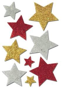 Bilde av MAGIC Stickers Stjerner (Diamond glittery), 1 ark