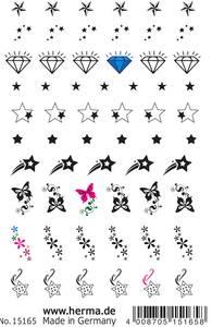 Bilde av CLASSIC Nail Tattoos, Stjerner, 60 motiver, 1 ark