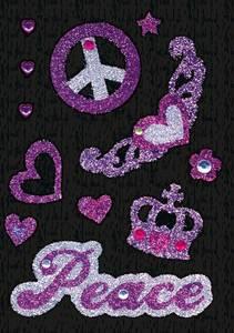 Bilde av GLAM ROCKS stickers Peace, 1 ark (10 pakk)