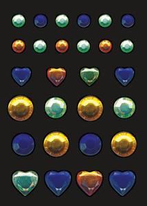Bilde av GLAM ROCKS stickers Fargerike juveler, 1 ark (10