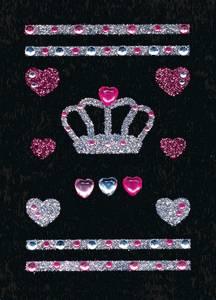 Bilde av GLAM ROCKS stickers Krone, 1 ark (10 pakk)