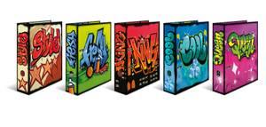 Bilde av Sortiment Graffiti, HERMA ringpermer i kartong,