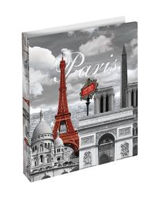 Bilde av HERMA smal ringperm i plastmateriale, A4, Paris