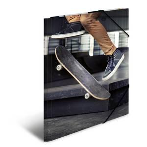 Bilde av Strikkmappe i robust kartong, A3, Skateboard (3