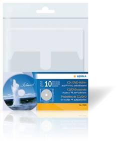 Bilde av CD/DVD plastlommer 129x130 mm, bakside
