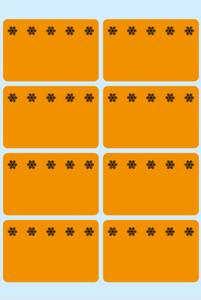 Bilde av VARIO fryseetiketter oransje 26x40, 56 stk (10