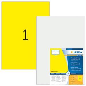 Bilde av SPECIAL slitesterke etiketter, gul, 25 ark A3,