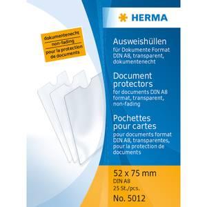 Bilde av HERMA plastlommer i klar plast 50x75 mm, A8 (25