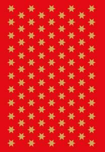 Bilde av DECOR Stickers Gullstjerner gullfolie, 3 ark (10