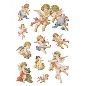 Bilde av DECOR Stickers Nostalgiske engler, glitter 2 ark