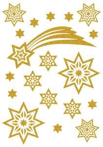 Bilde av MAGIC Stickers Stjerner i gull, glitter, 1 ark