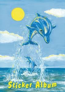 Bilde av Samlealbum for klistermerker, motiv Delfin, A5,