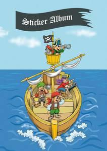 Bilde av Samlealbum for klistermerker, motiv Pirater, A5,