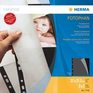 Bilde av HERMA fotokartong 230x297 mm, sulfatfritt, svart