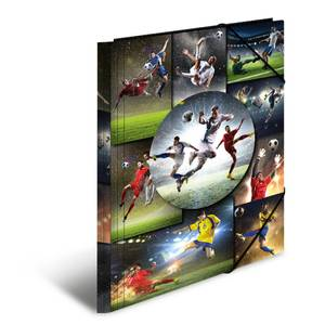 Bilde av HERMA strikkmappe i plastmateriale, A3, Fotball