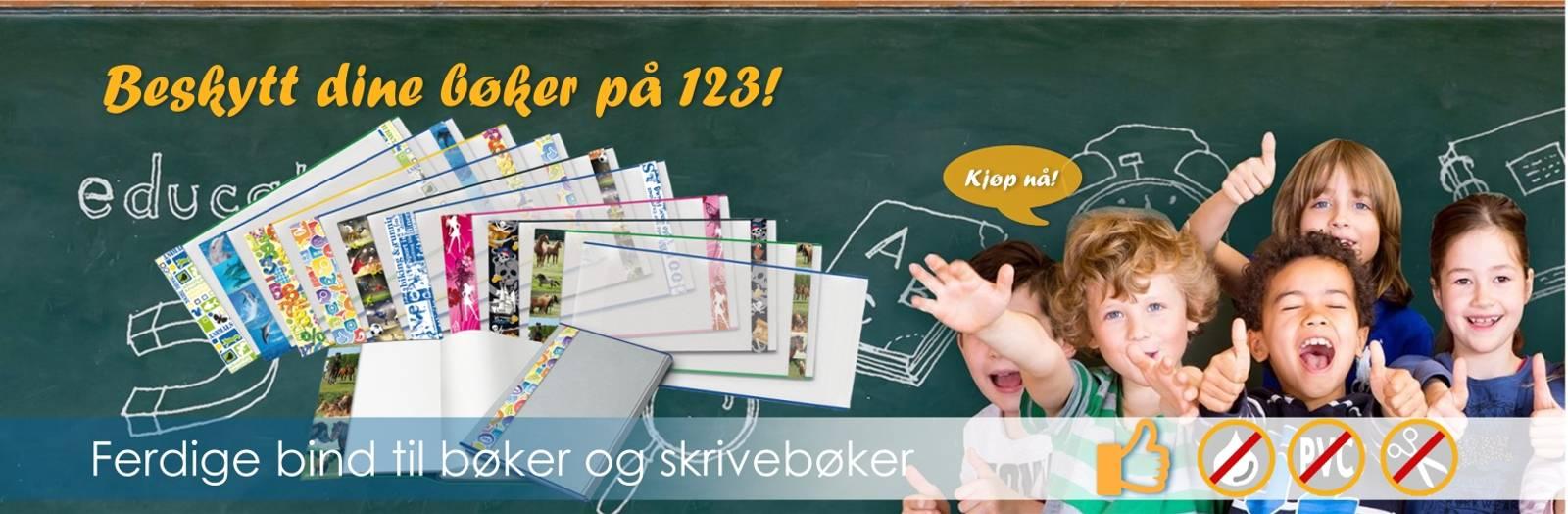 Bokbind, lesestativ, bokmerker, skolebag, permer, hurtighefter, mapper, limprodukter, etiketter, klistremerker
