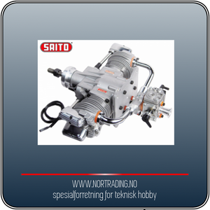 Bilde av SAITO FG-57TS 57cc 4-takts Twin Bensinmotor