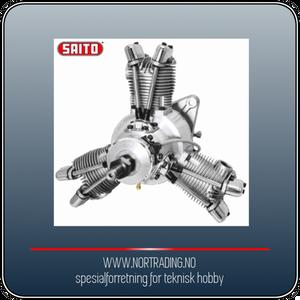 Bilde av SAITO FG-60R3 60cc 4-takts 3-cyl Stjernemotor