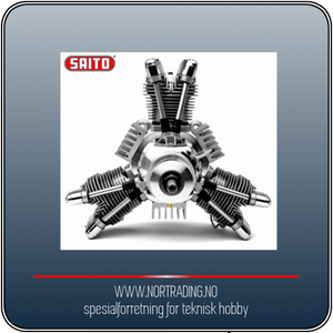 Bilde av SAITO FG-84R3 84cc 4-takts 3-cyl Stjernemotor
