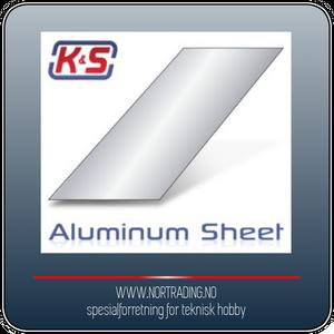 Bilde av K&S ALUMINIUMSPLATE 0,4 x 250 x 100 m.m. ¤