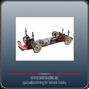 Bilde av ABSIMA DRIFT DRR-01 MET. RED 2WD ROLLING CHASSIS