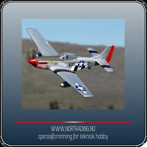 Bilde av ARROWS HOBBY P-51 MUSTANG PNP 1100 m.m.