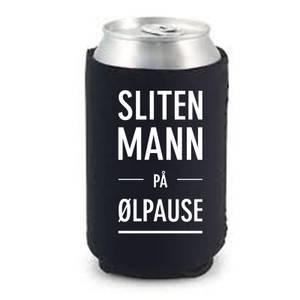 Bilde av Sliten mann på ølpause