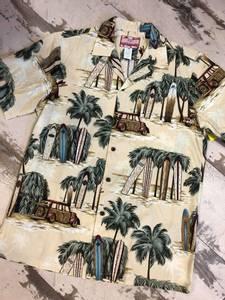 Bilde av Hawaiiskjorte - Surfbrett og Woodie - Beige