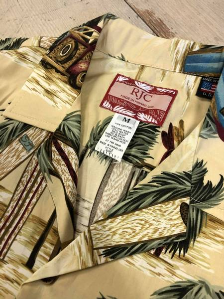 Hawaiiskjorte - Surfbrett og Woodie - Beige