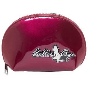 Bilde av Bettie Page - Sminkepung - Glossy Vinyl Burgunder