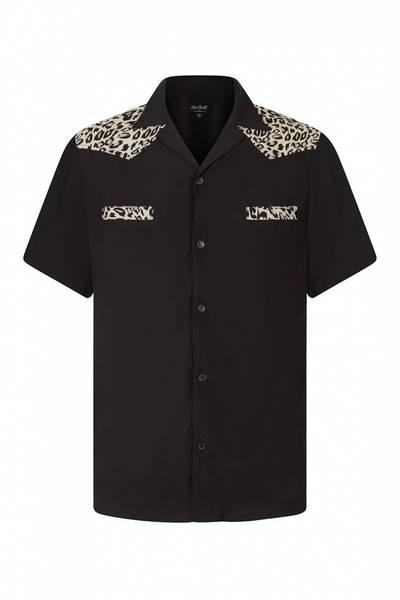 Chet Rock - Jeffery Leopard Bowlingskjorte