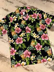Bilde av Hawaiiskjorte - Ananas og Hibiskus - Sort
