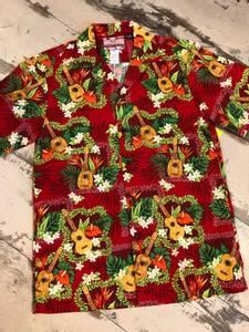 Bilde av Hawaiiskjorte - Ukulele - Rød