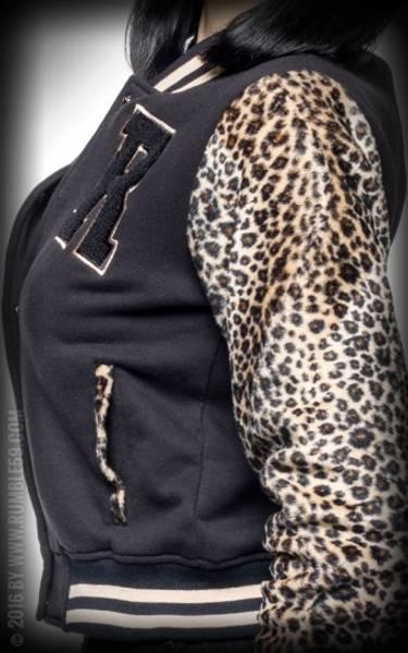 Rumble59 - College jakke - Sort / Leopard