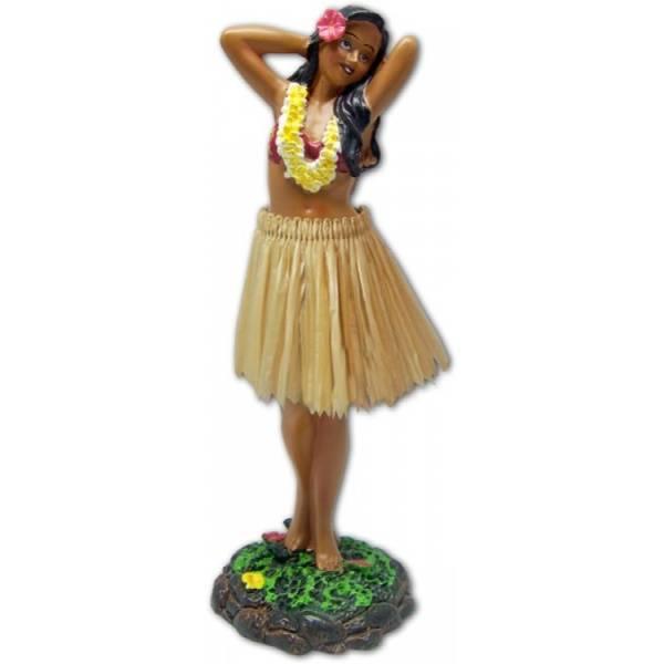 Hula Girl Posing Natural Skirt