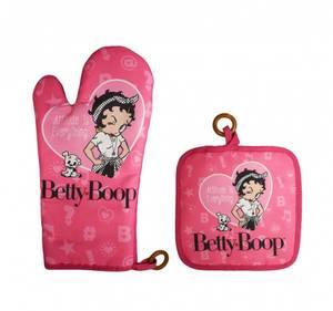 Bilde av Betty Boop Rosa Grillvott og Grytelapp