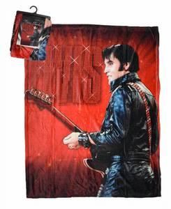 Bilde av Elvis Fleecepledd Rød