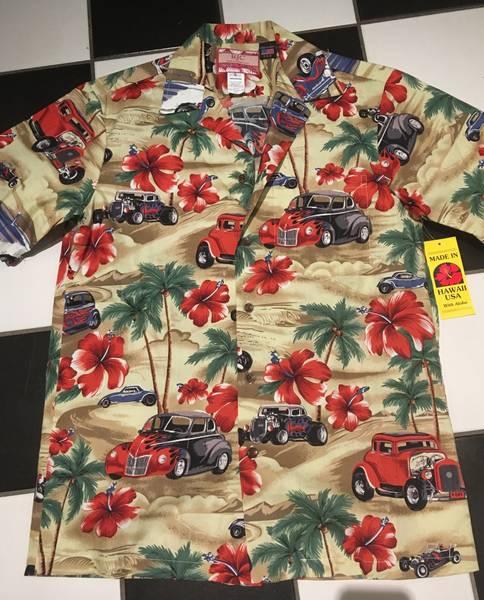 Hawaiiskjorte Rod Med Flammer - Beige