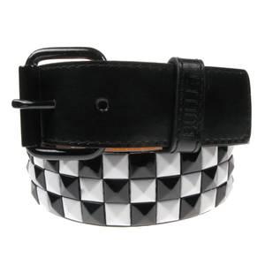 Bilde av Belte - 3 rader sort/hvit sjakkrutet