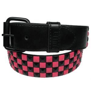 Bilde av Belte - Pink/sort sjakkrutet