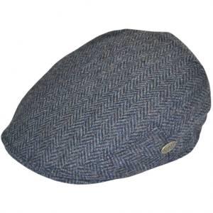 Bilde av G&H Herringbone Flat Cap - Sixpence Blå