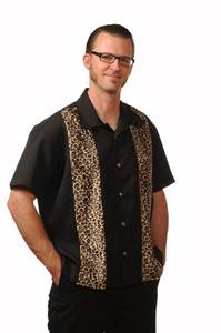 Bilde av Steady - Leopard Panel Men's Button Up