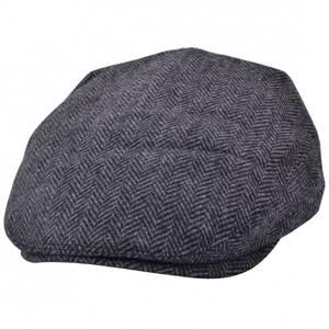 Bilde av G&H Wool Herringbone Flat Cap - Grå