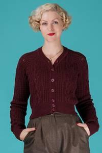 Bilde av Emmy - The Adorable Aran Cardigan - Aubergine