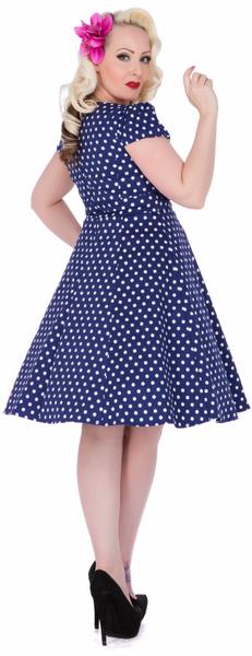 Claudia Flirty Fifties Style Kjole - Mørk Blå